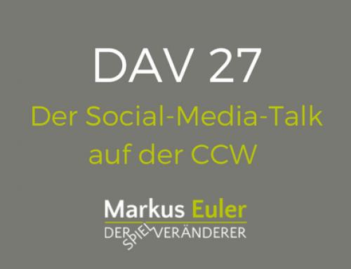 DAV27 Der Social-Media-Talk auf der CCW 2016