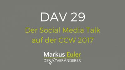 Der Social Media Talk auf der CCW 2017