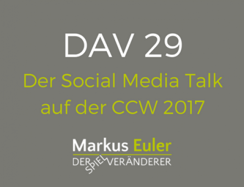 DAV29  Der Social Media Talk auf der CCW 2017